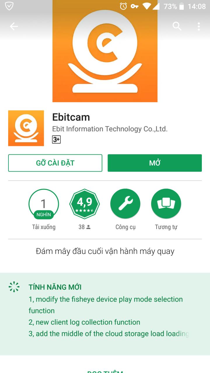Hướng dẫn cài đặt và sử dụng Ebitcam trên Smartphone, máy tính bảng