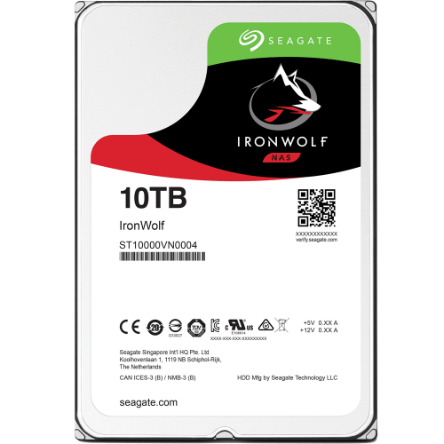 "Ổ cứng HDD NAS Seagate Ironwolf 10TB 3.5"" SATA (ST10000VN0004)"