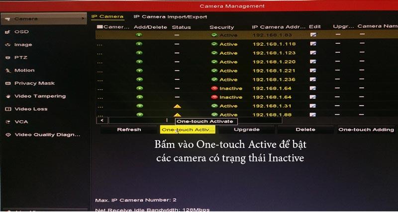 kích hoạt camera IP hikvision