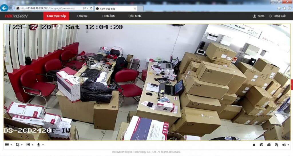 xem camera ip hikvision trên website