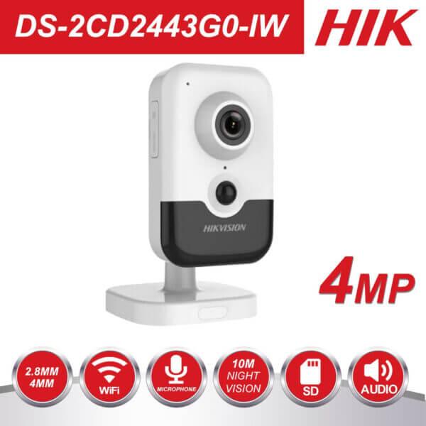 Hik New Video Surveillance Wi Fi Camera Poe Ds 2cd2443g0 Iw 4mp Ir Fixed Cube Wireless