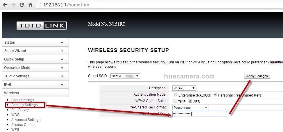 Đổi pass wifi totolink